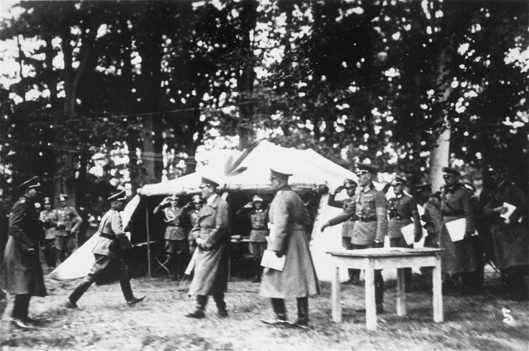 Adolf Hitler visits the unit of the 12th Panzer Division, which Solly Perel has joined, during the first summer of the war in the Soviet Union.