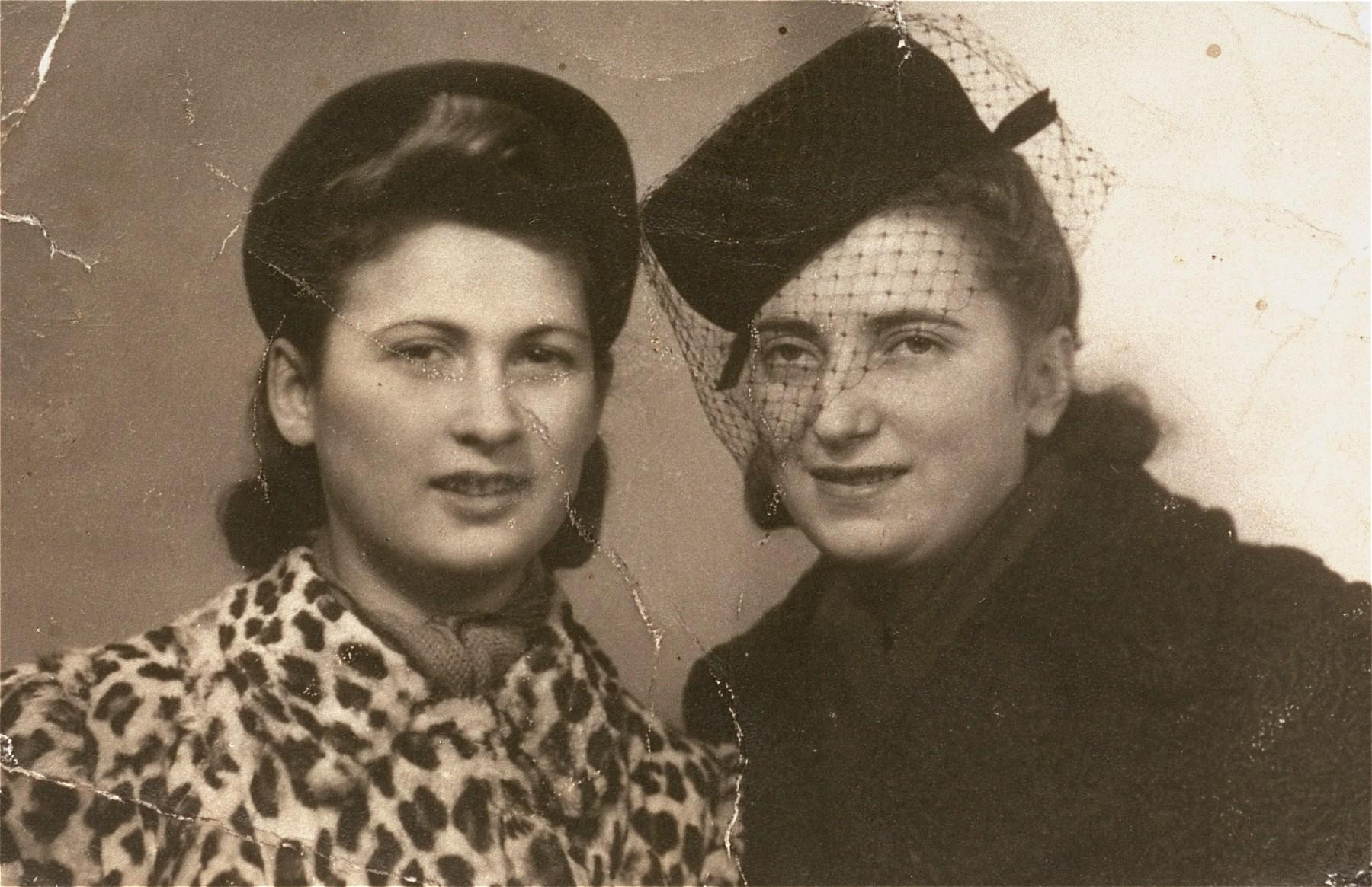 Portrait of Irka Cymerman (left) and Aleksandra Ola Wojcik, the sister of her rescuer, Wladyslaw Wojcik.