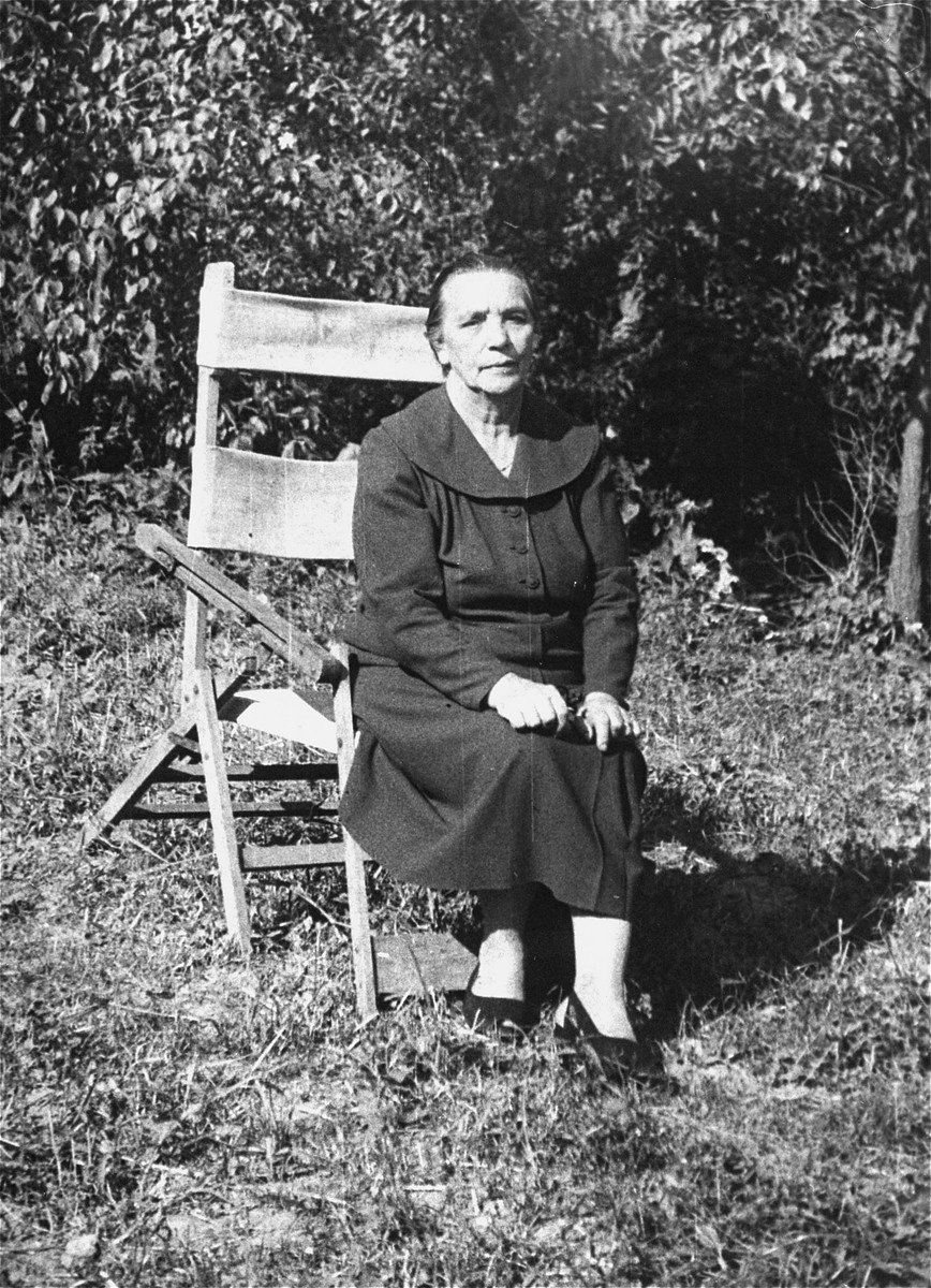Portrait of Wiktoria Wilkowa, a Polish woman who aided the donor's family during the German occupation.