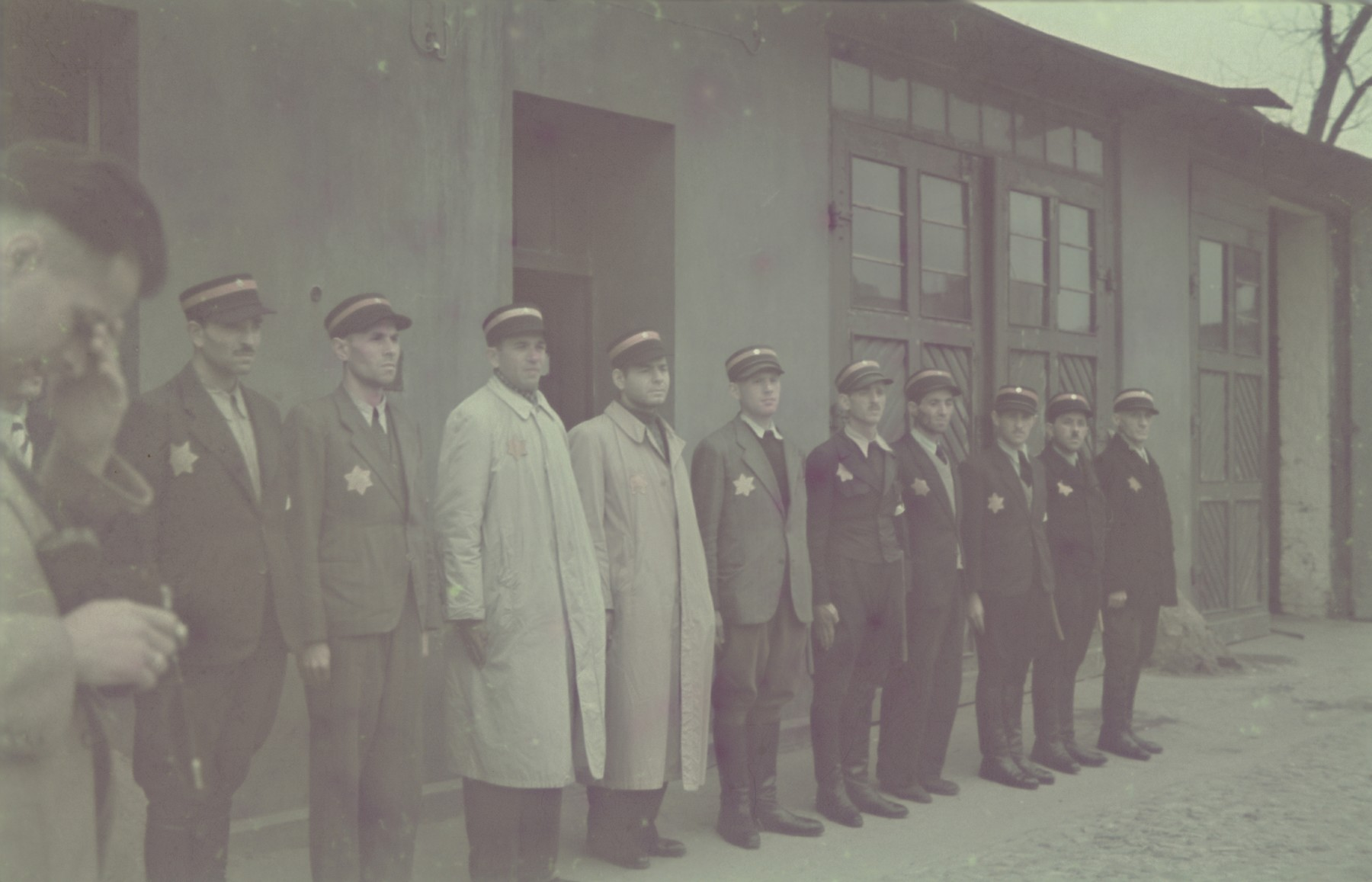 A roll call of the members of the fire brigade in the Lodz ghetto.
