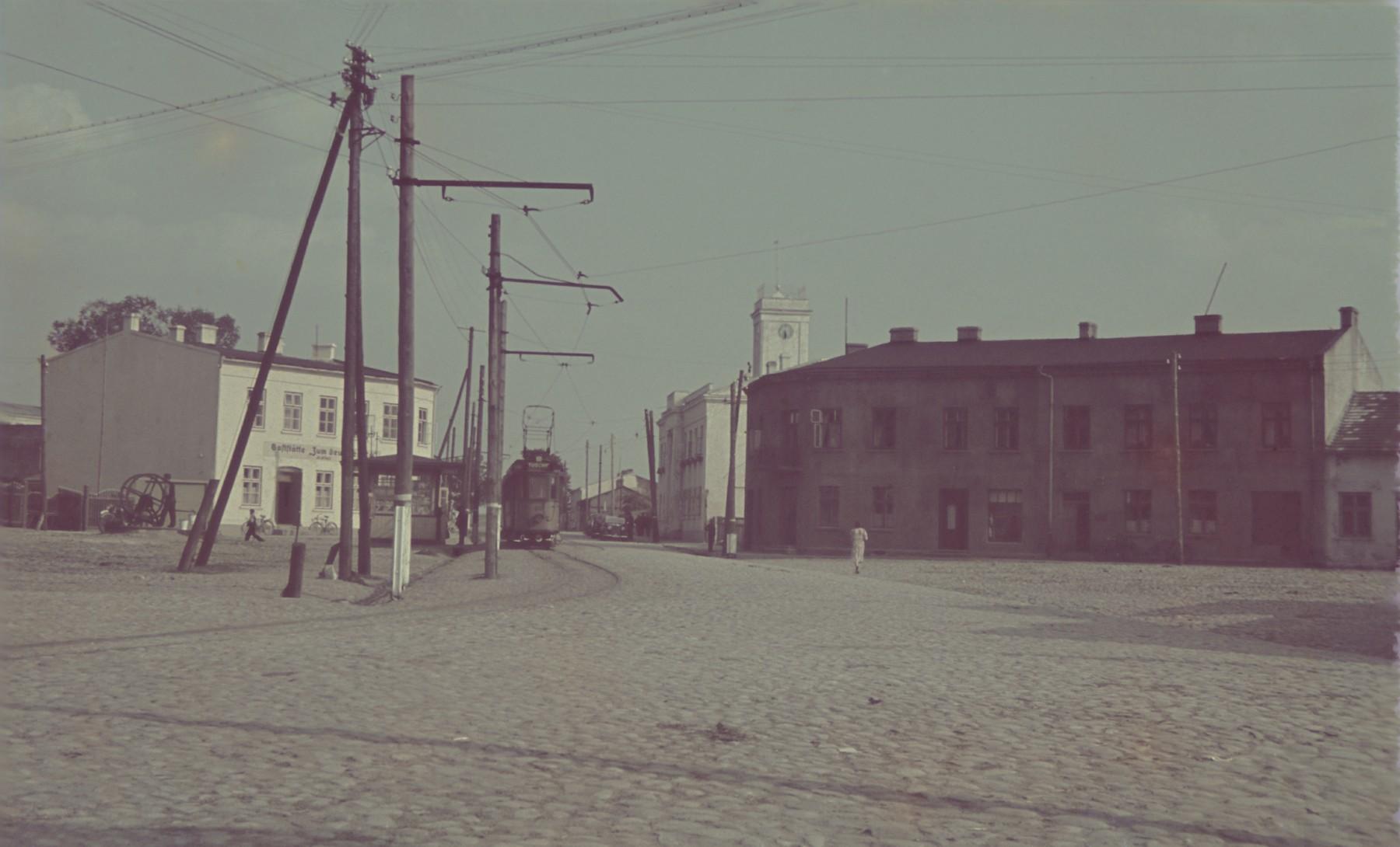 """A scene in Tuszyn.  Original German caption: """"Tuschyn"""" #113."""