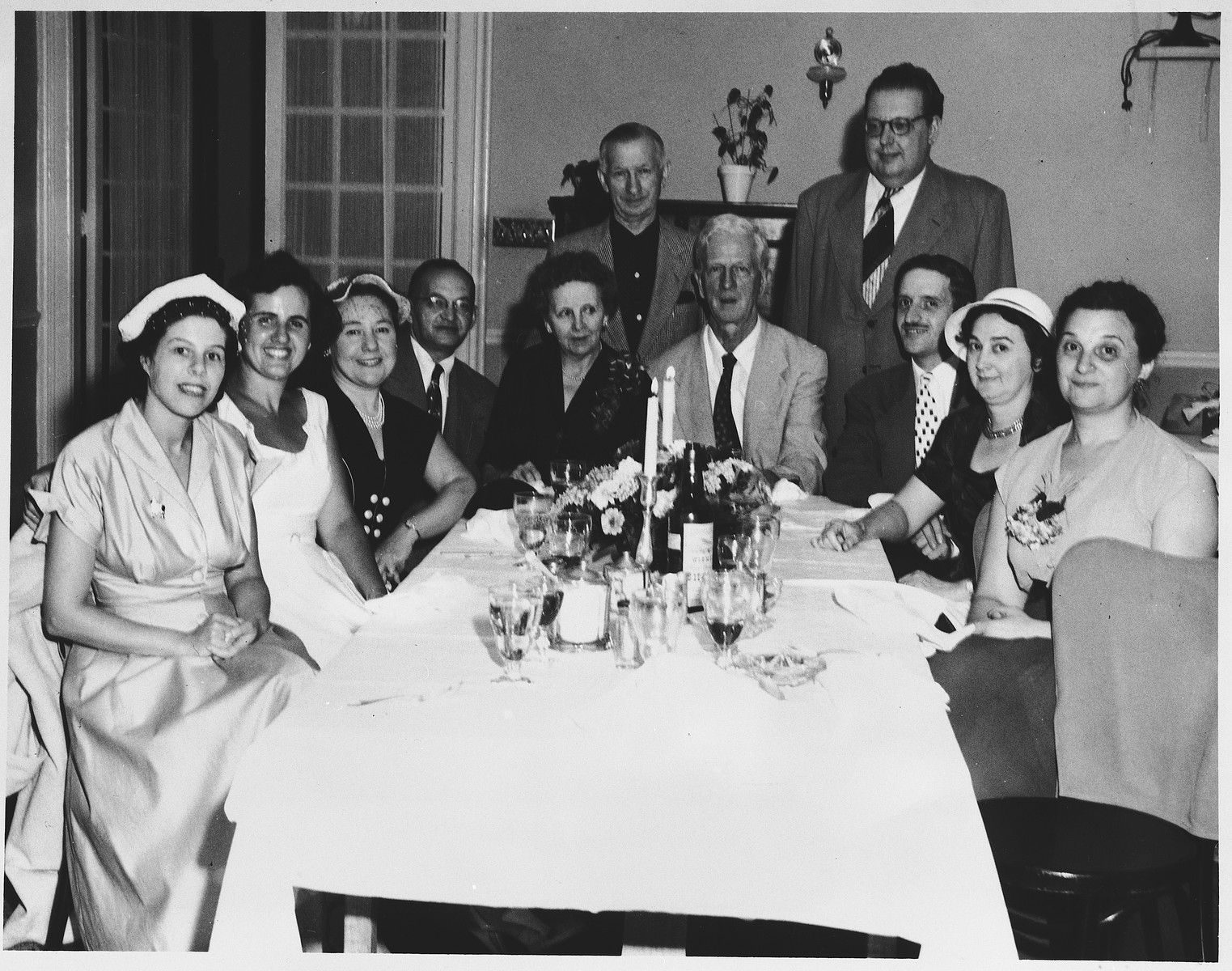 U.S. Ambassador to Israel, James G. McDonald, and his wife, Ruth, attend a luncheon in their honor hosted by a group of Saratogians at the Hotel Lafayette.