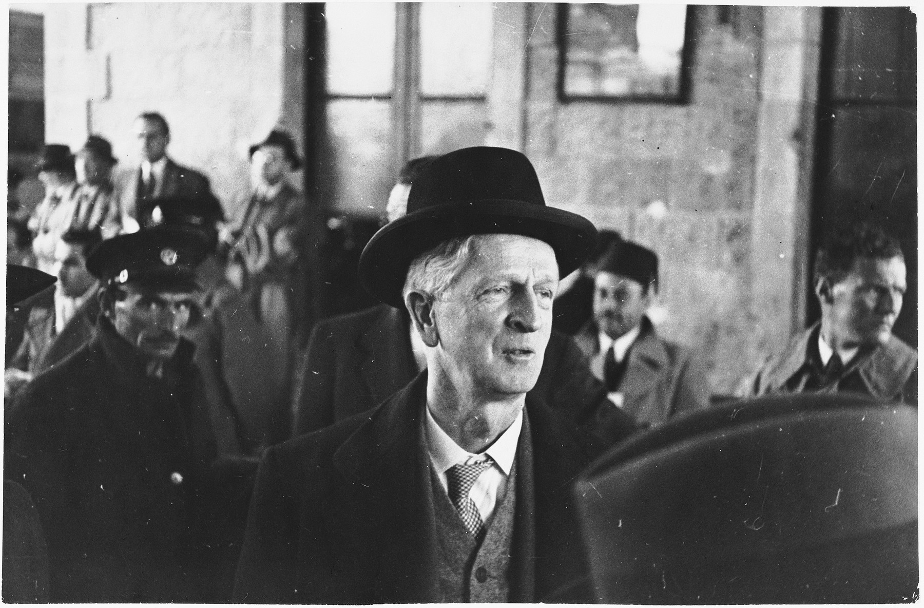James G. McDonald arrives in Jerusalem with the members of the Anglo-American Committee of Inquiry on Palestine.