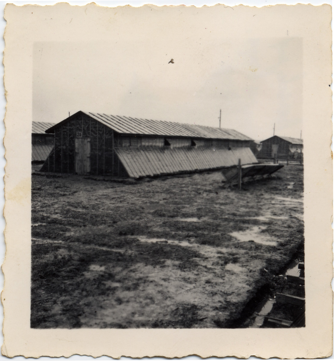 View of a barrack in the Gurs internment camp.