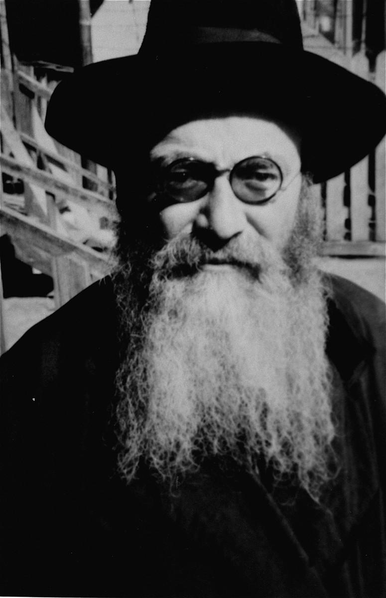 Portrait of an elderly religious Jew in an unidentified ghetto.