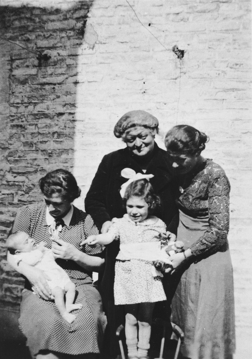 Portrait of the Cohen family shortly after Rosalee's birth.