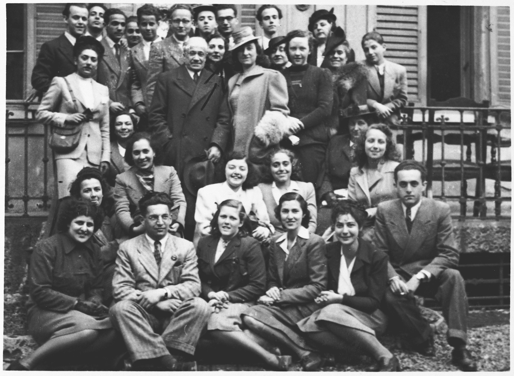 Members of the Jewish choir of Milan directed by the former Jewish conductor of La Scala.  Among those pictured is Paola Sereni Foa and several of her relatives.