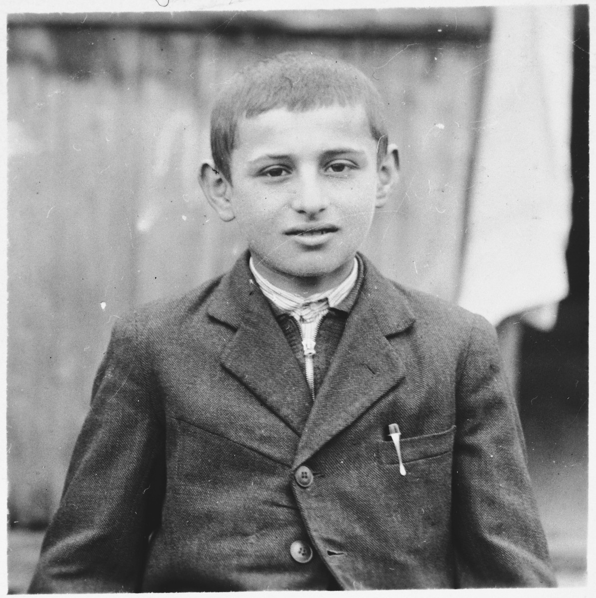 Portrait of a Jewish boy in Bilki.  Pictured is Israel Mermelstein.