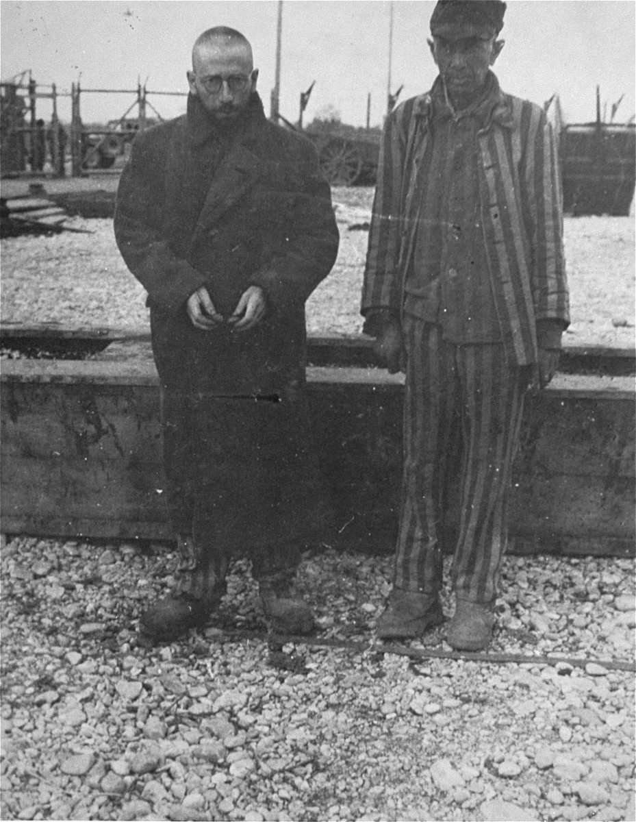 Two survivors from Vilna in Kaufering IV.  Only 12 survivors were found in the camp altogether.