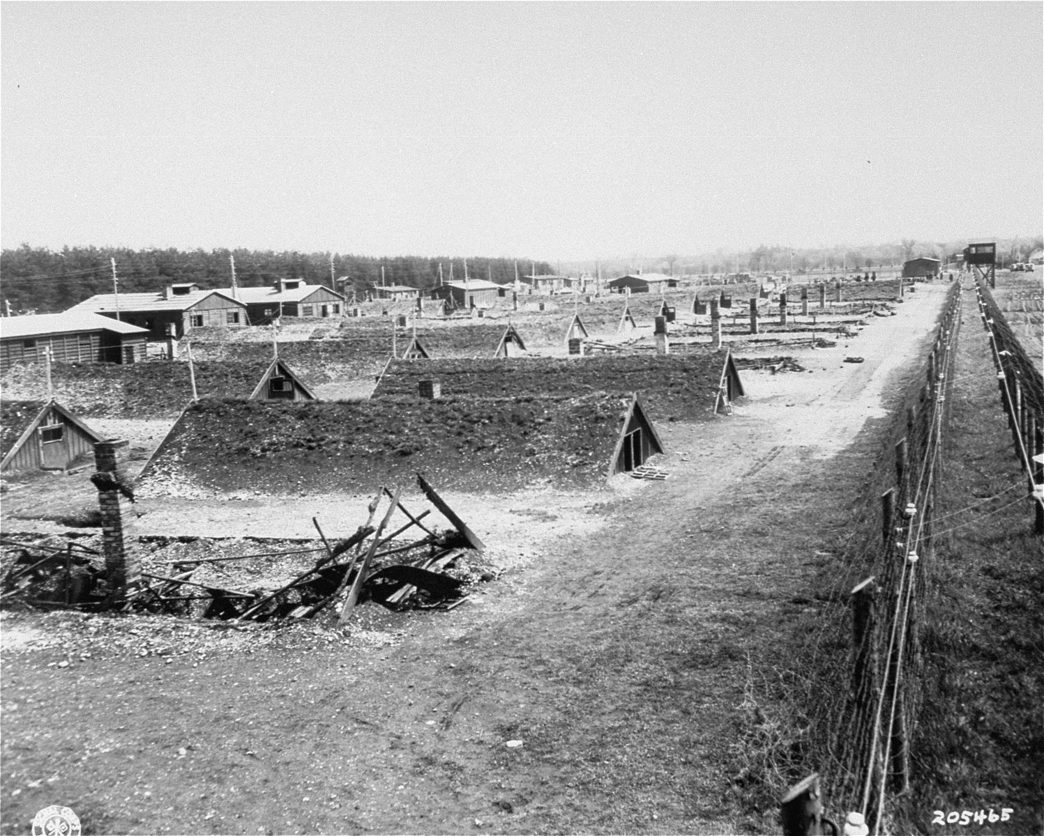 The Kaufering IV concentration camp.