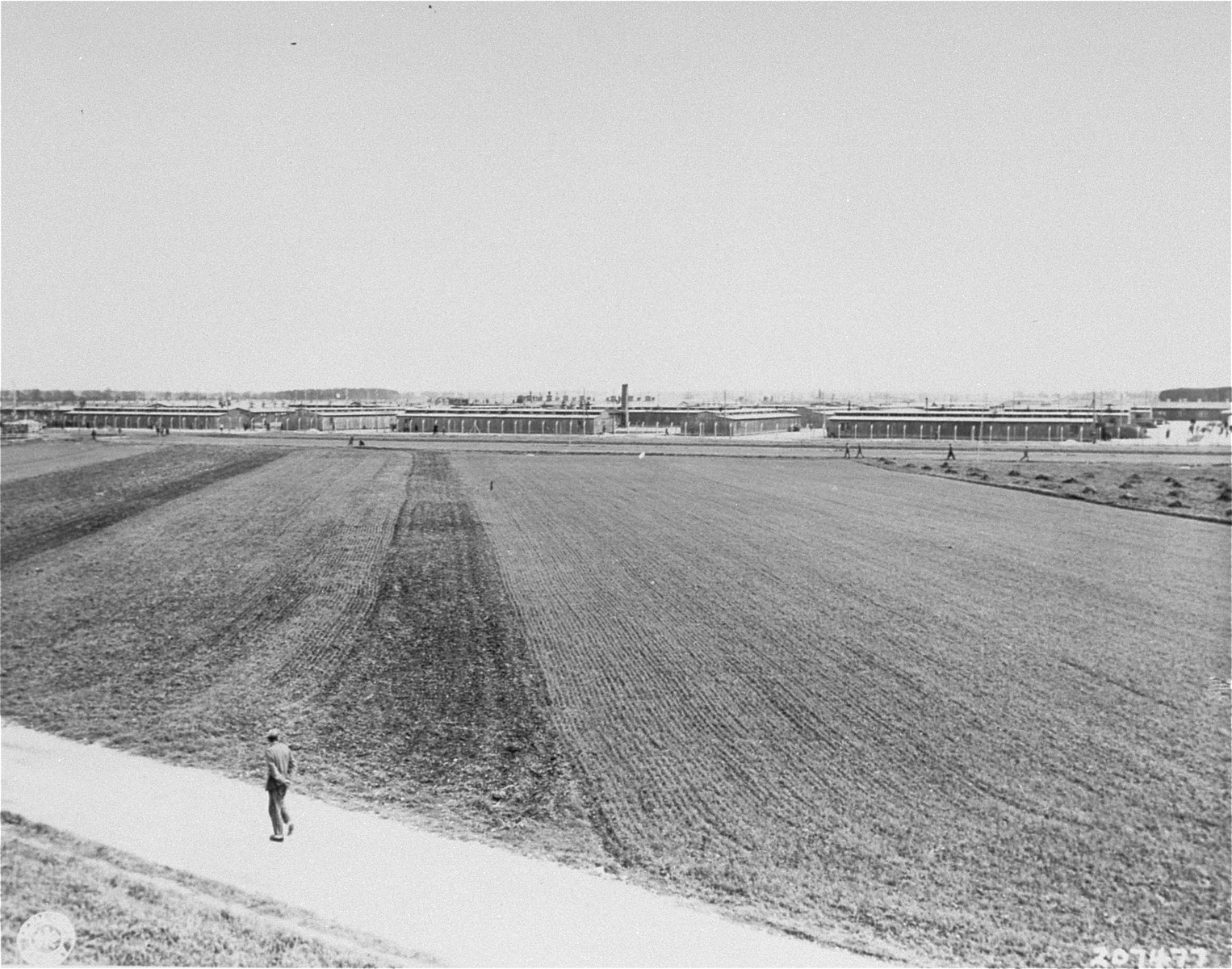 The Dachau concentration camp after liberation.