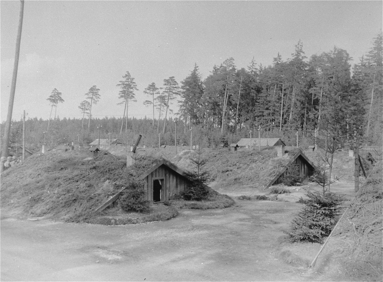 Barracks in Waldlager VI, near Ampfing.