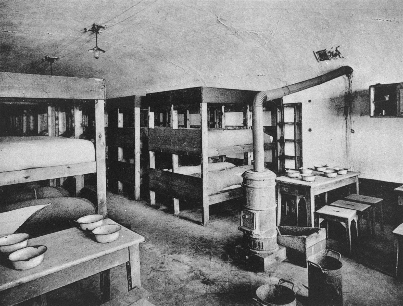 A barracks in the Breendonck fortress transit camp.