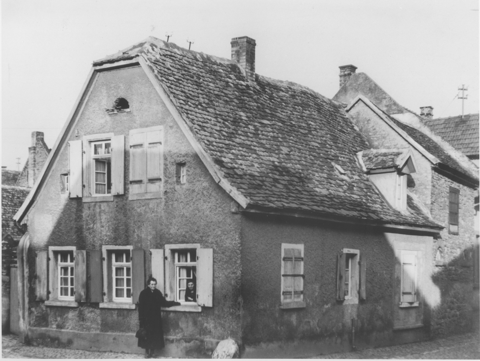 View of the Hellman family home in Guntersblum, Germany.