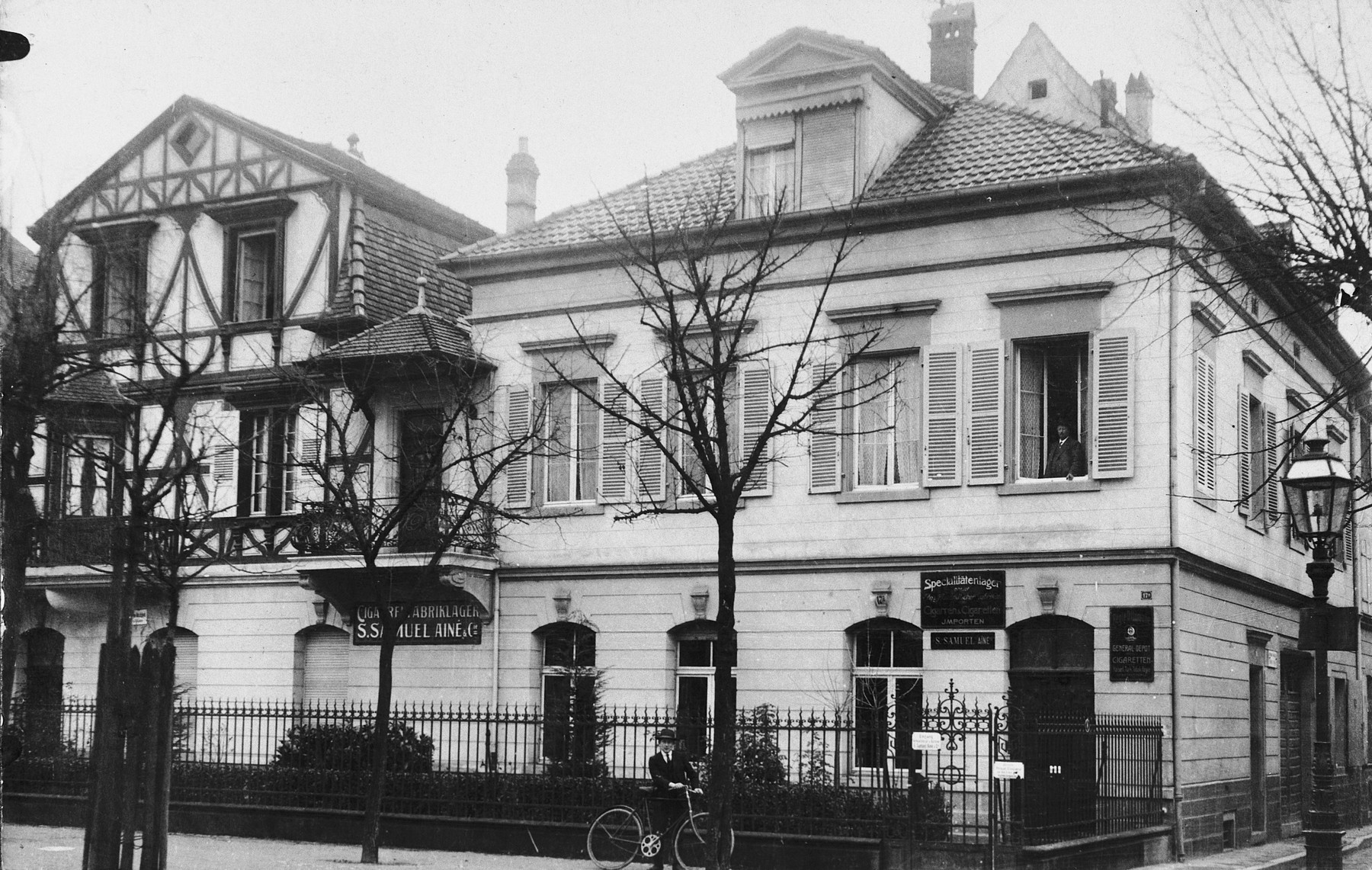 Exterior view of the house of Marianne Schwab's grandfather in Colmar.
