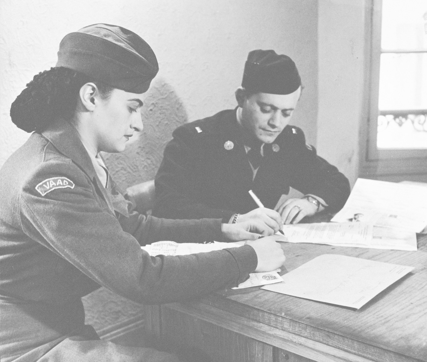 [Rabbi Nathan Baruch] and a female assistant work in the Vaad Hatzalah office in Germany.