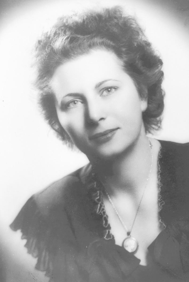 Studio portrait of Belgian rescuer, Jeanne Daman.
