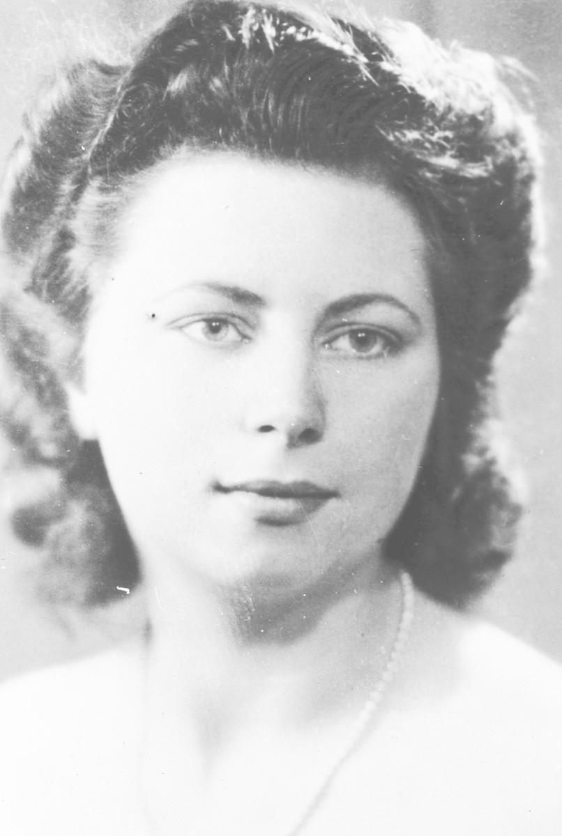 Close-up portrait of Belgian rescuer, Jeanne Daman.