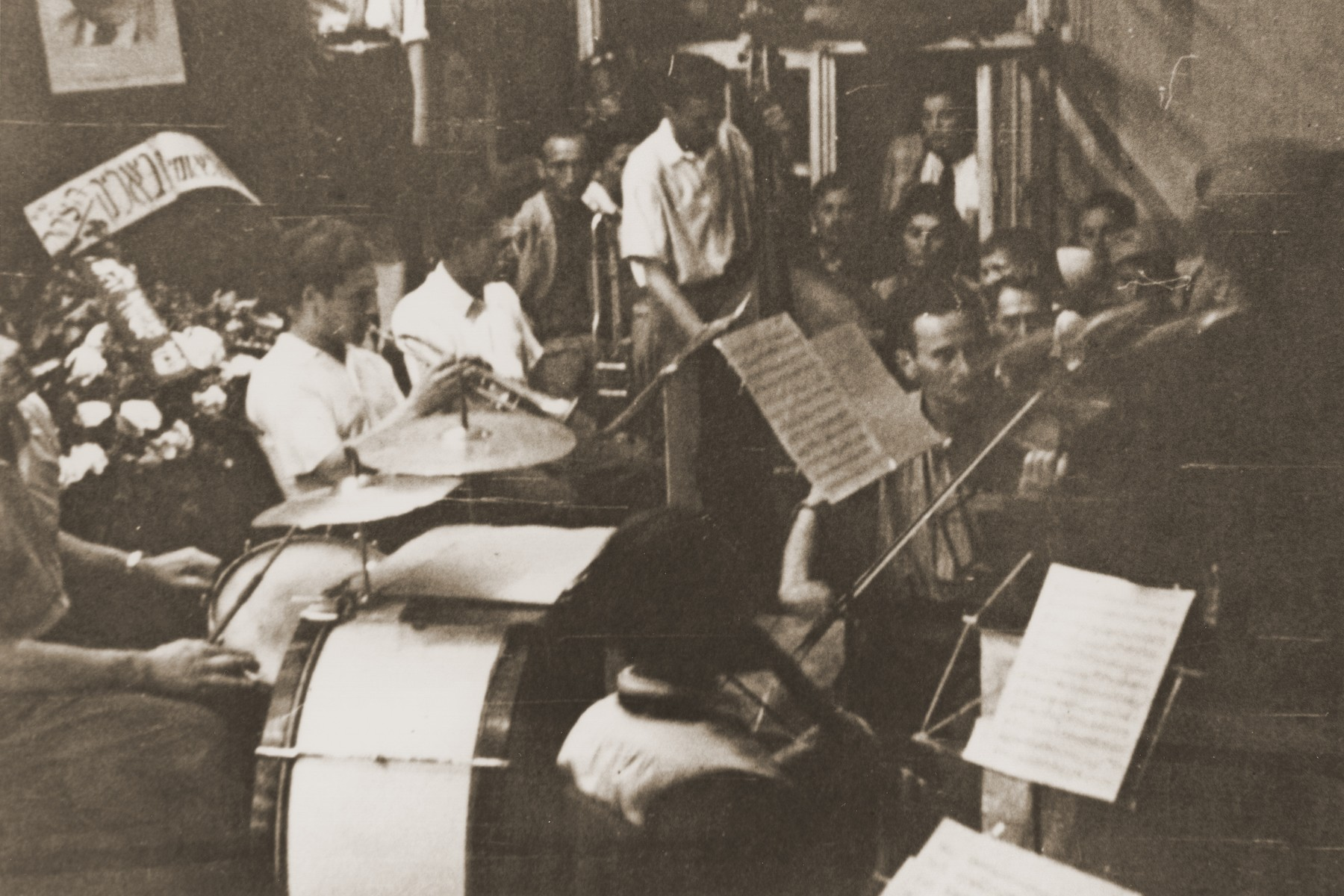 Performance by the Landsberg displaced persons camp orchestra.