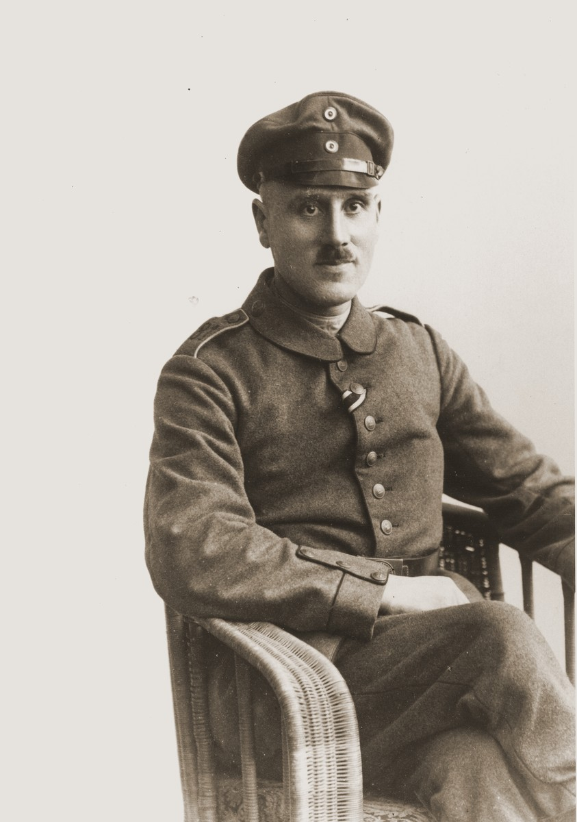 Portrait of Sigmund Gotthelf in German Army uniform during the First World War.