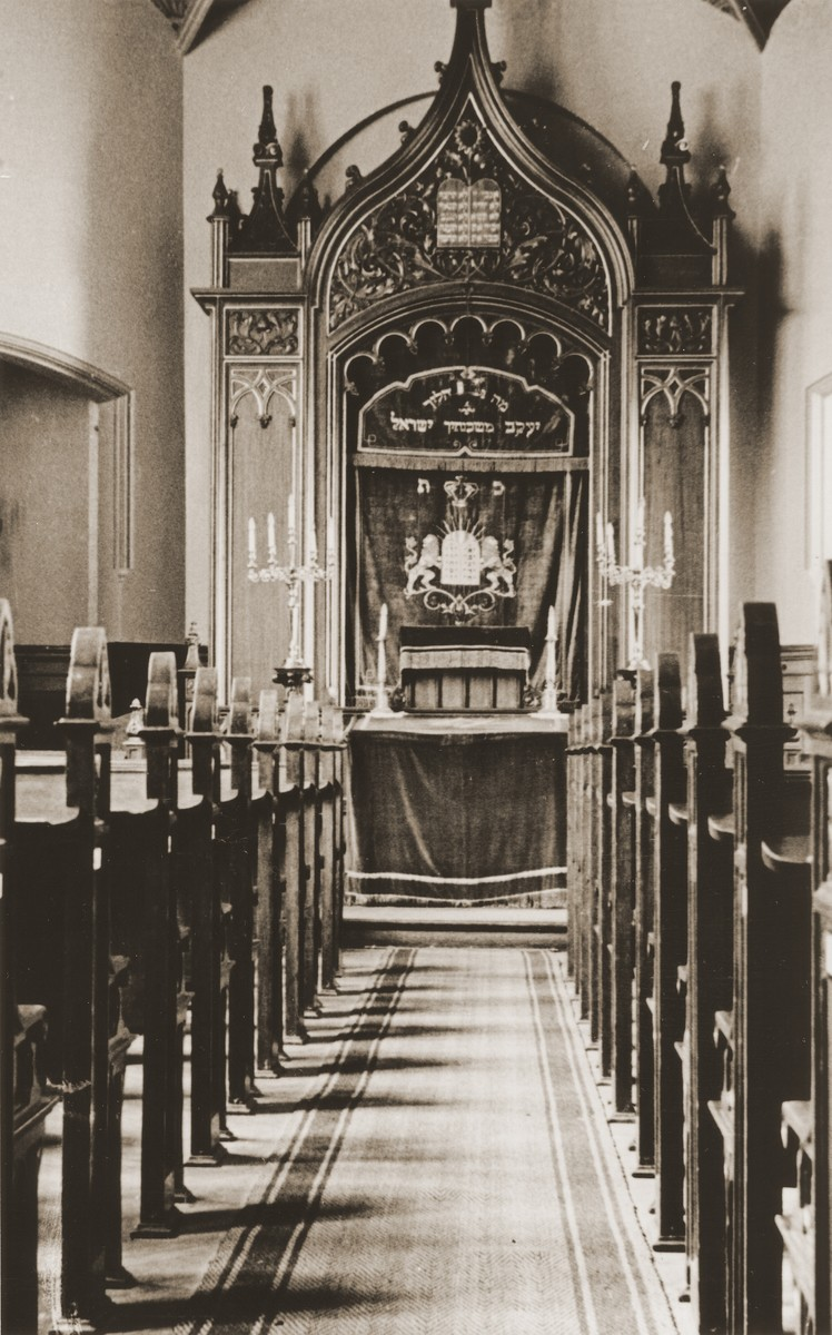 The synagogue at the Baruch Auerbach Jewish orphanage in Berlin.