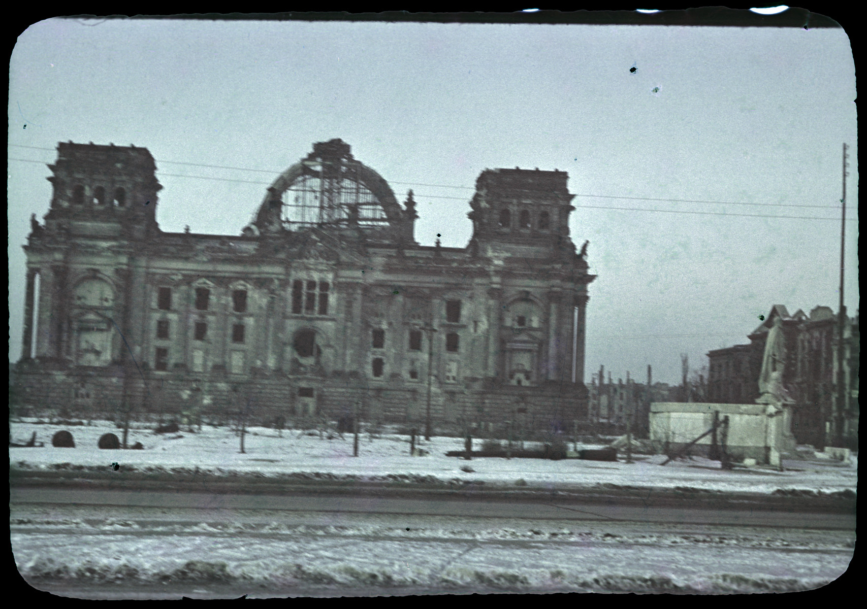 A postwar view of the Reichstag.