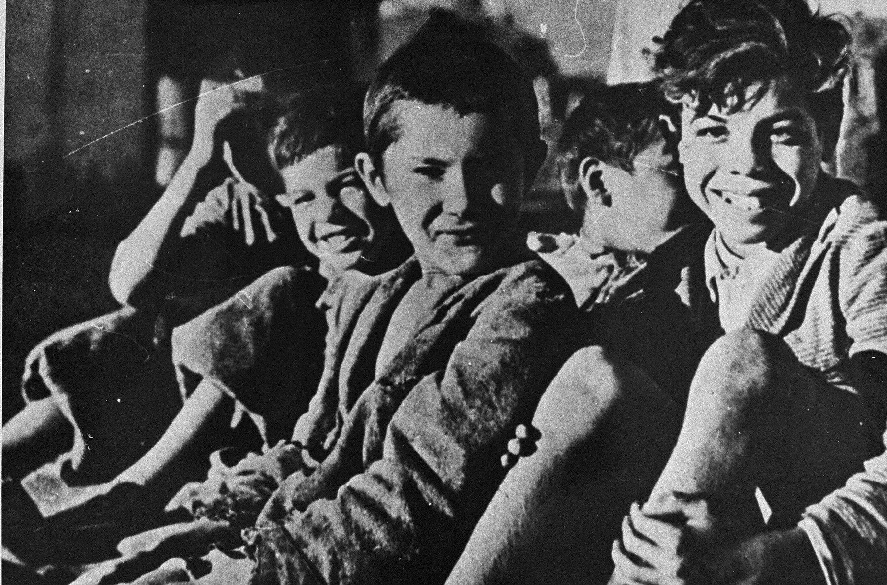 A group of Roman (Gypsy) children, who were later deported.