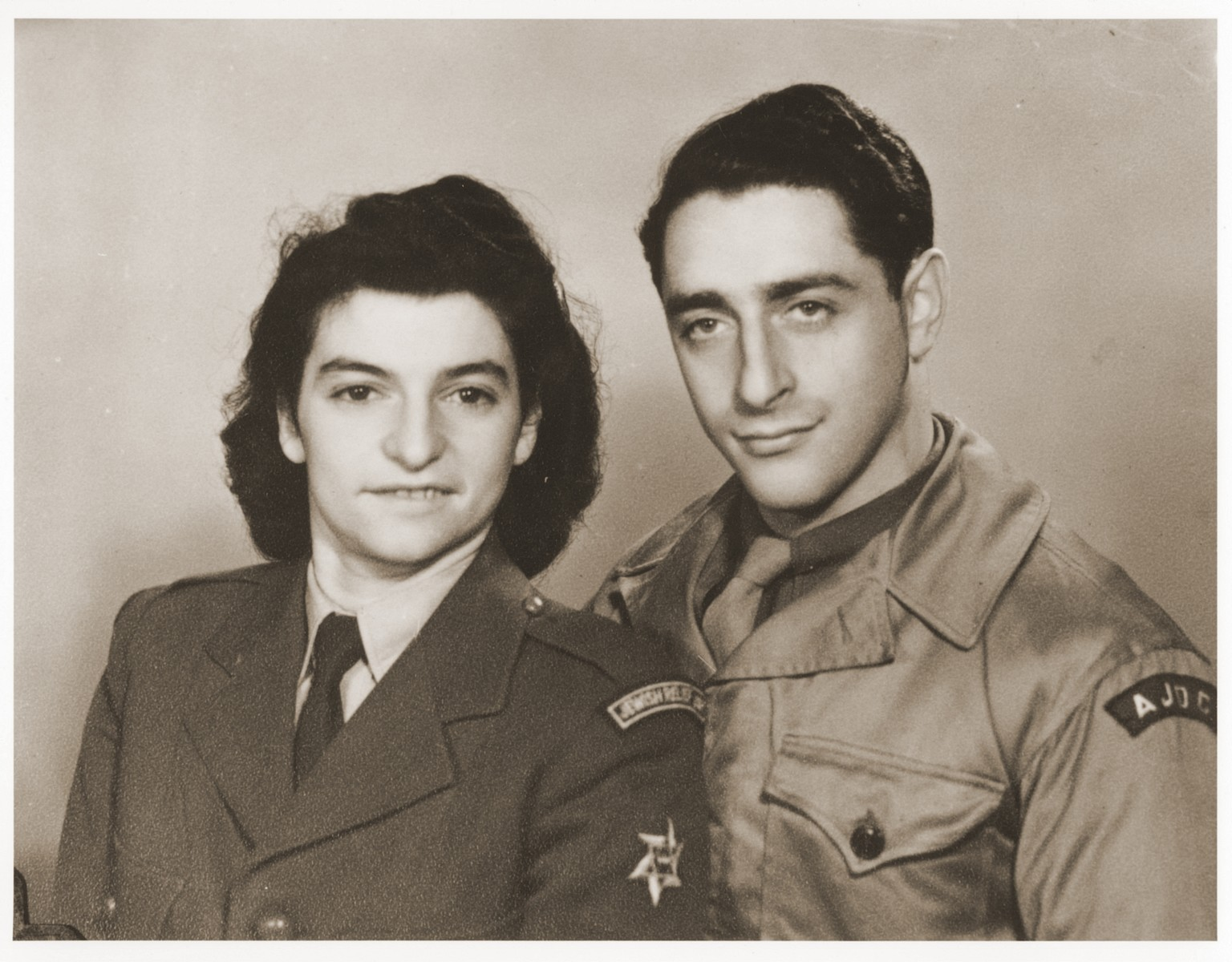 JDC workers Hans Finke and Alice Redlich in the Bergen-Belsen DP camp.