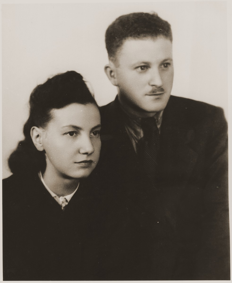 Portrait of Benjamin and Vladka Miedzyrzecki in Lodz soon after the war.