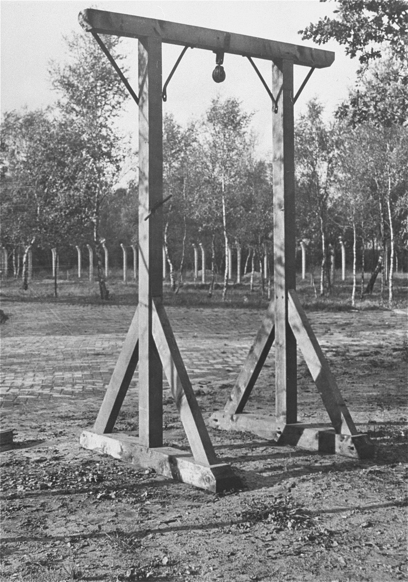 A gallows found in the Vught transit camp after liberation.