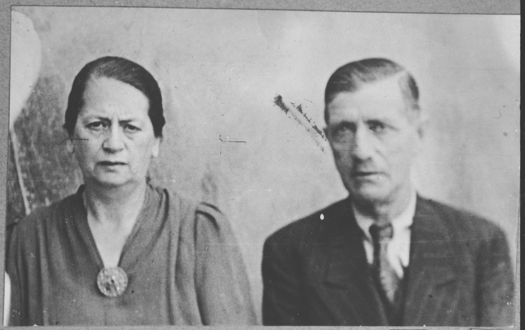 Portrait of David Kalderon and his wife, Ana.  He was an entrepeneur.  They lived at Tekshuiska 2 in Bitola.