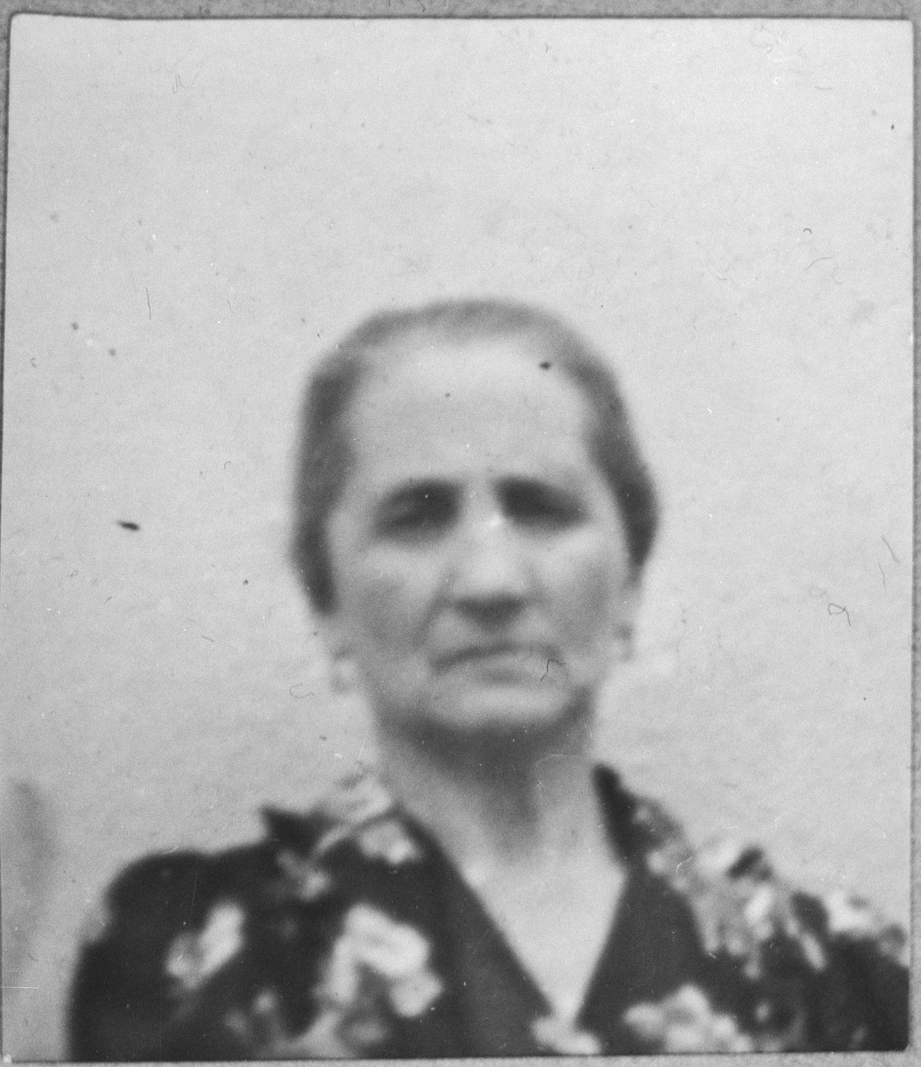 Portrait of Hana Ischach, wife of Schachia Ischach.  She lived at Zvornitska 11 in Bitola.
