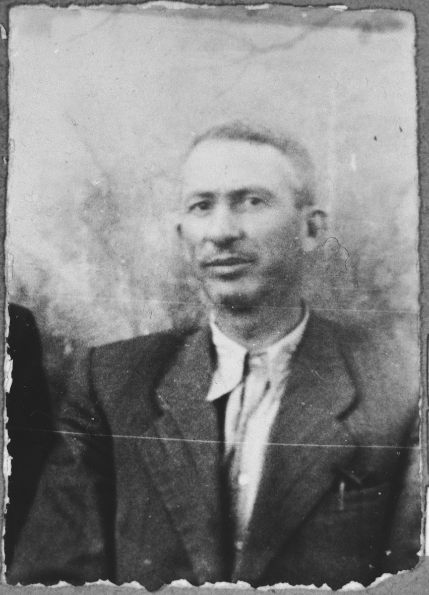 Portrait of Mois Kalderon, son of Avram Kalderon.  He was a bank teller.  He lived on Debarska 131 in Bitola.