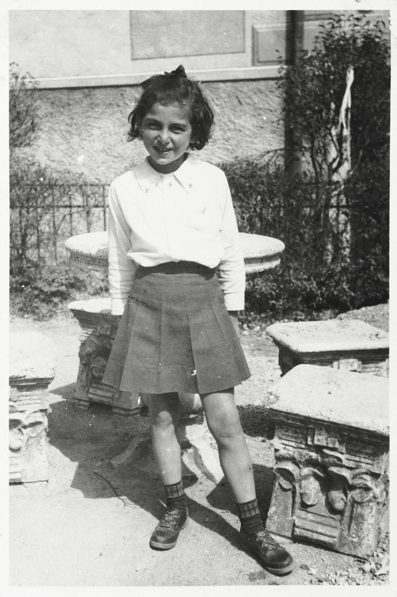 Portrait of ten-year-old Bertha Magid in the Selvino children's home.