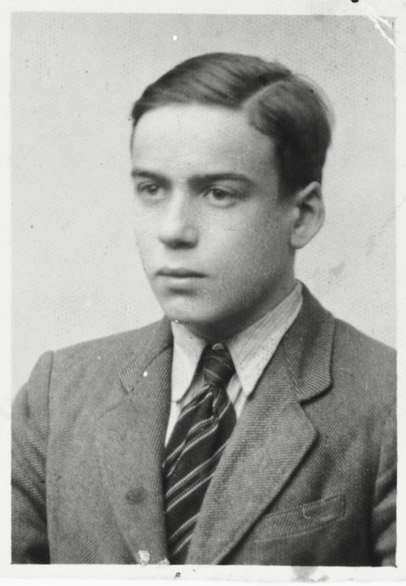 Identification photograph of Mordechai Majranc taken in Rzeszow while in hiding.