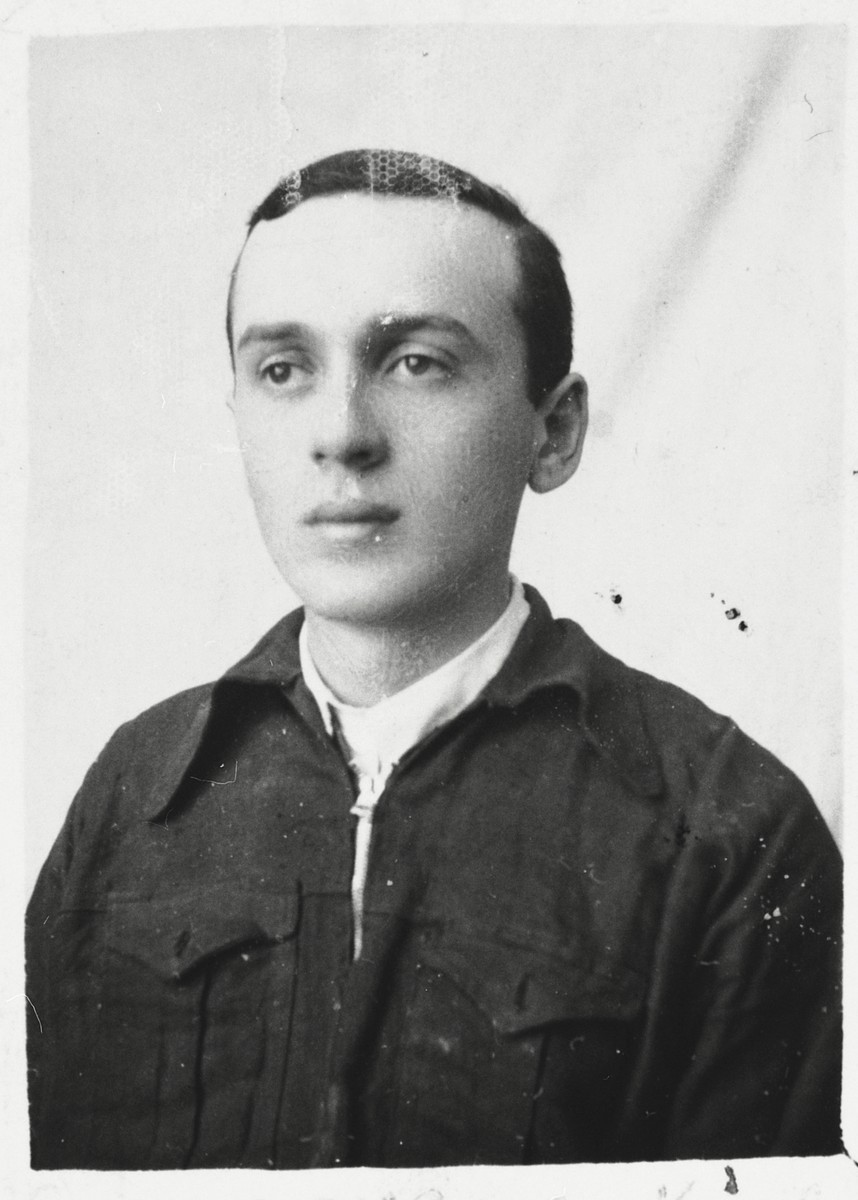 Identification photograph of Levi Majranc taken in Rzeszow while in hiding.