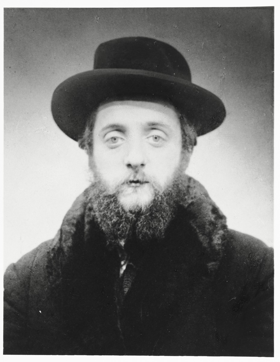 Portrait of Rabbi Tuvia Horowitz, the rabbi of Sanok.