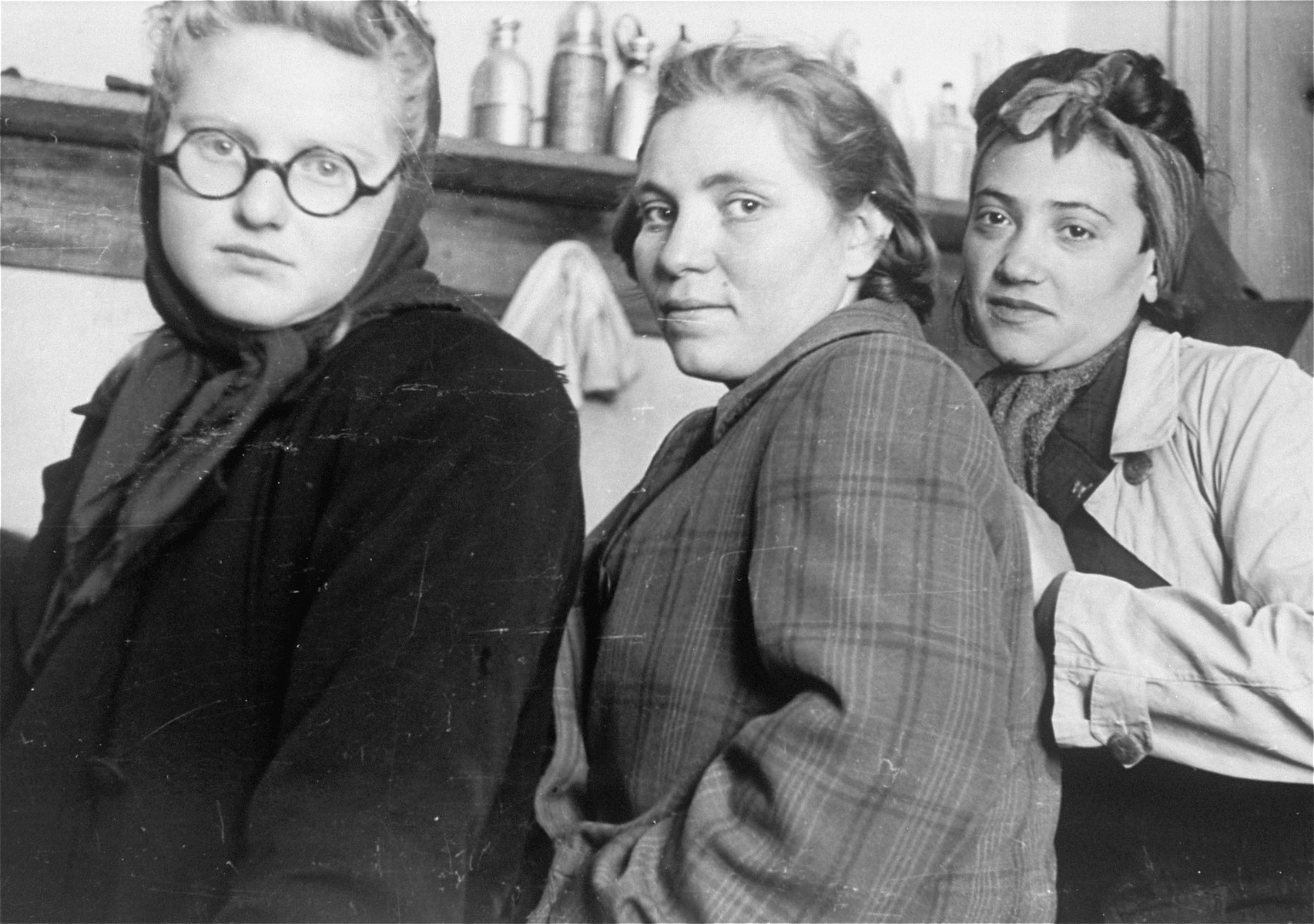 Local Jewish women, photographed by Jewish conscripts in Company 108/57 of the Hungarian Labor Service.
