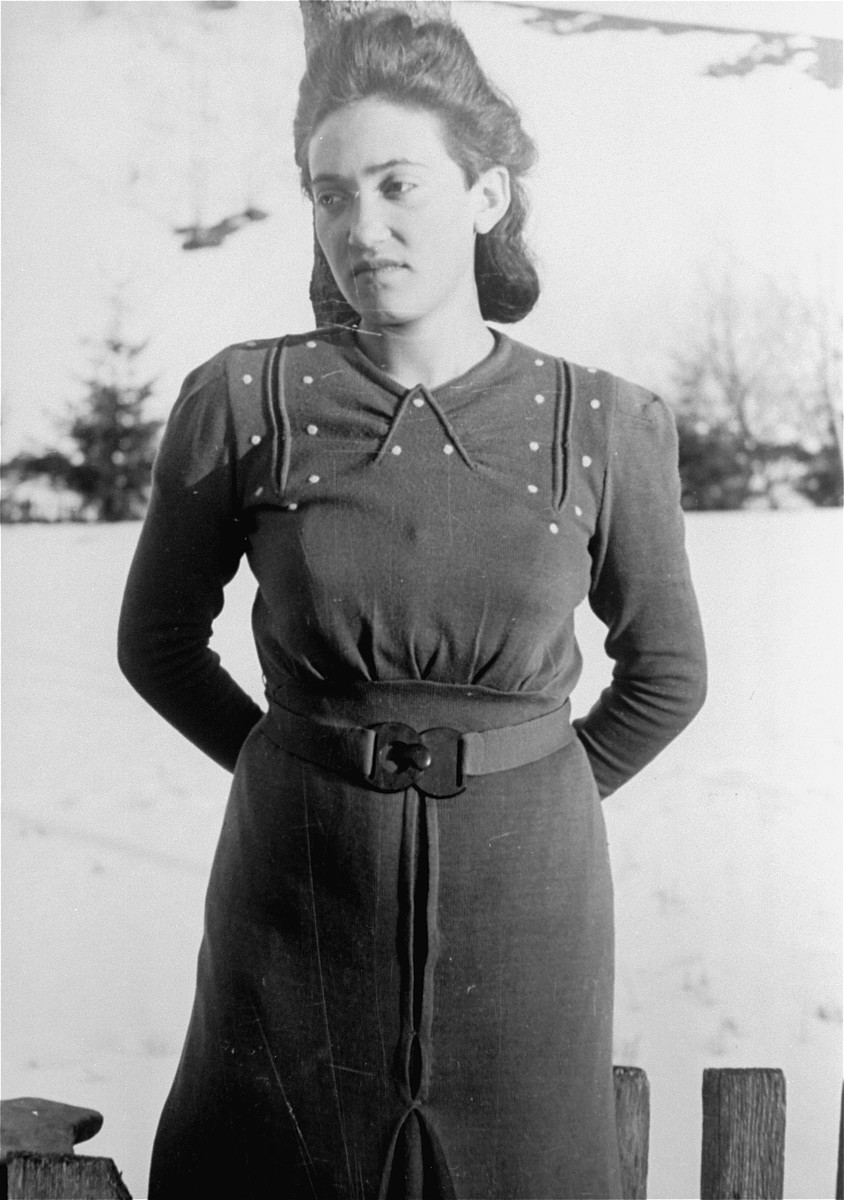 A local Jewish woman photographed by Jewish conscripts in the Hungarian Labor Service.