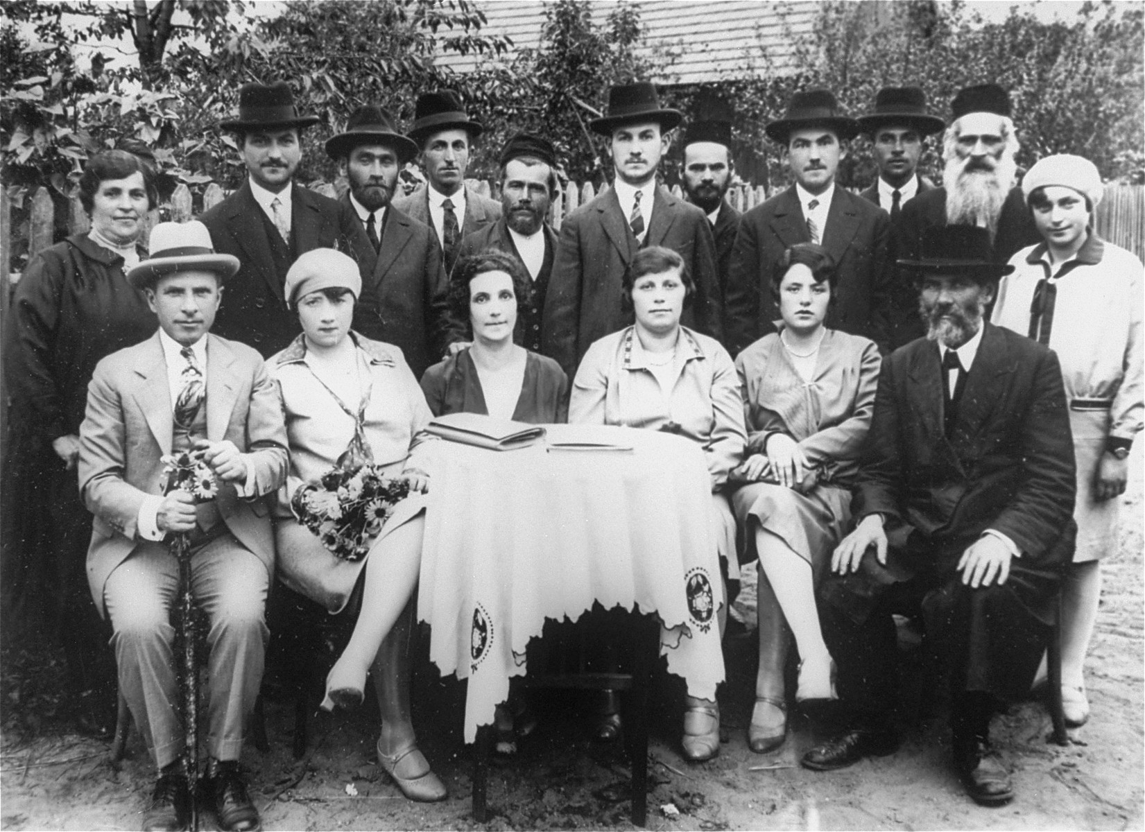 Family portrait of Herszkowitz family in Pacanow.