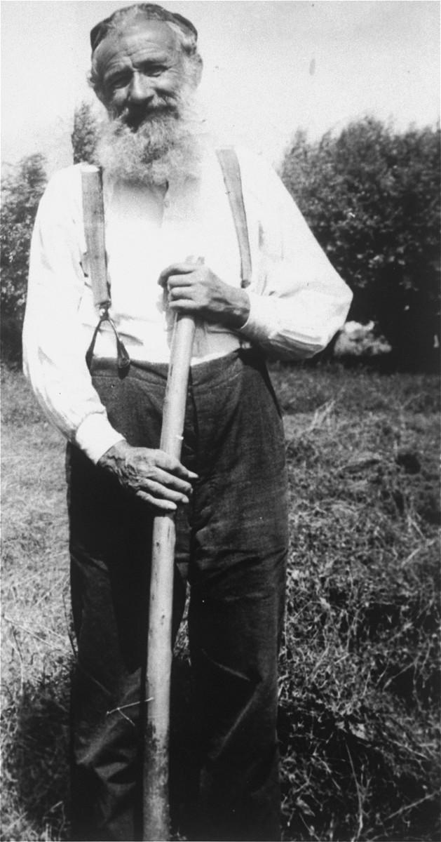 Donor's maternal grandfather Joel Kulawicz, a farmer in Hureczko, near Przemysl.