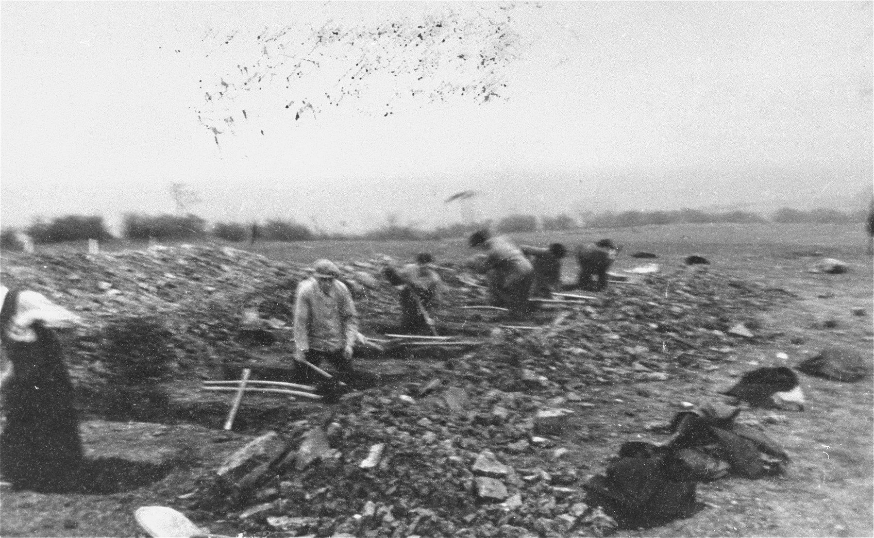 German civilians digging graves for corpses found in Ohrdruf by the U.S. Army.