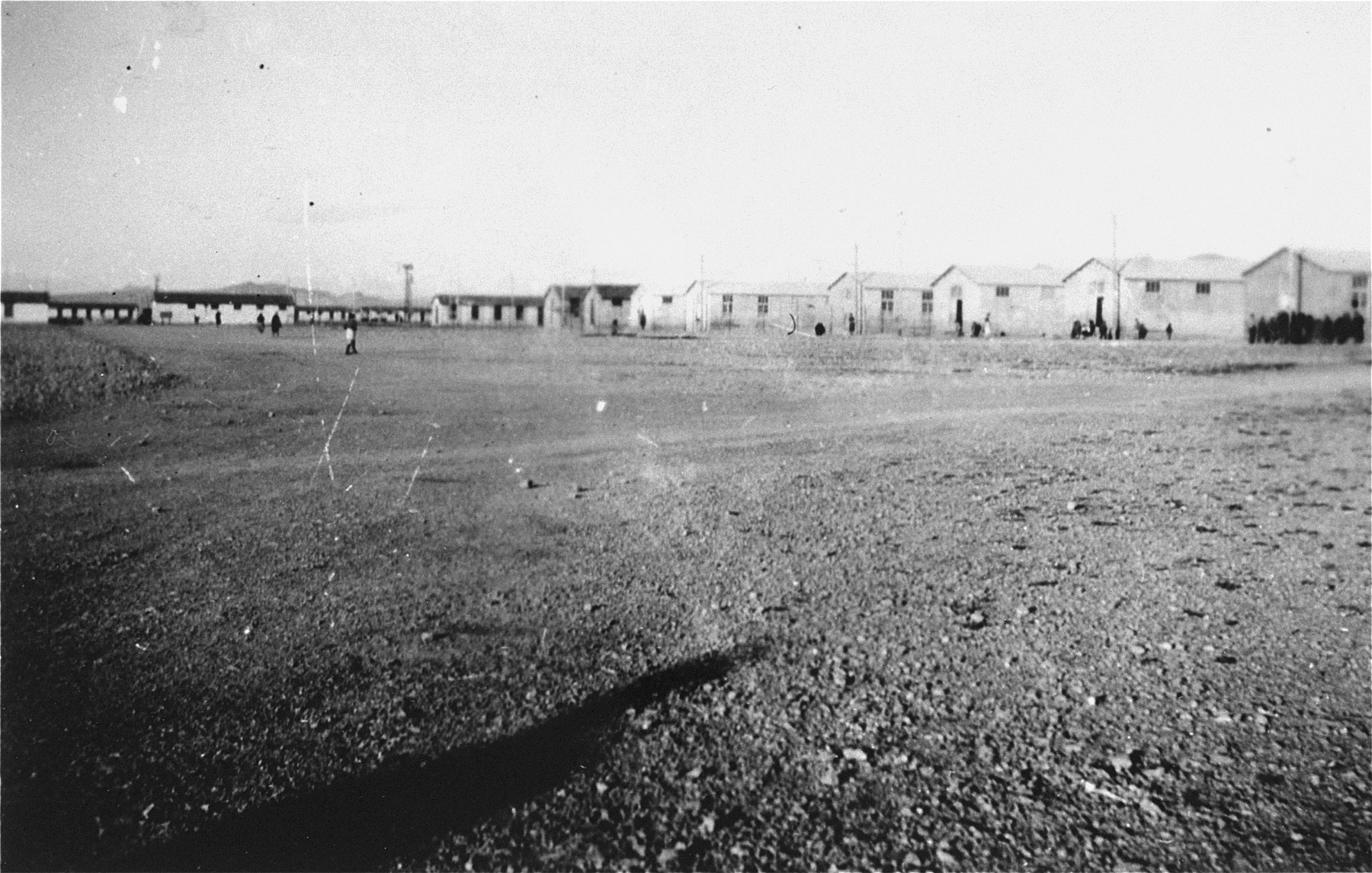 A section of the Rivesaltes transit camp.