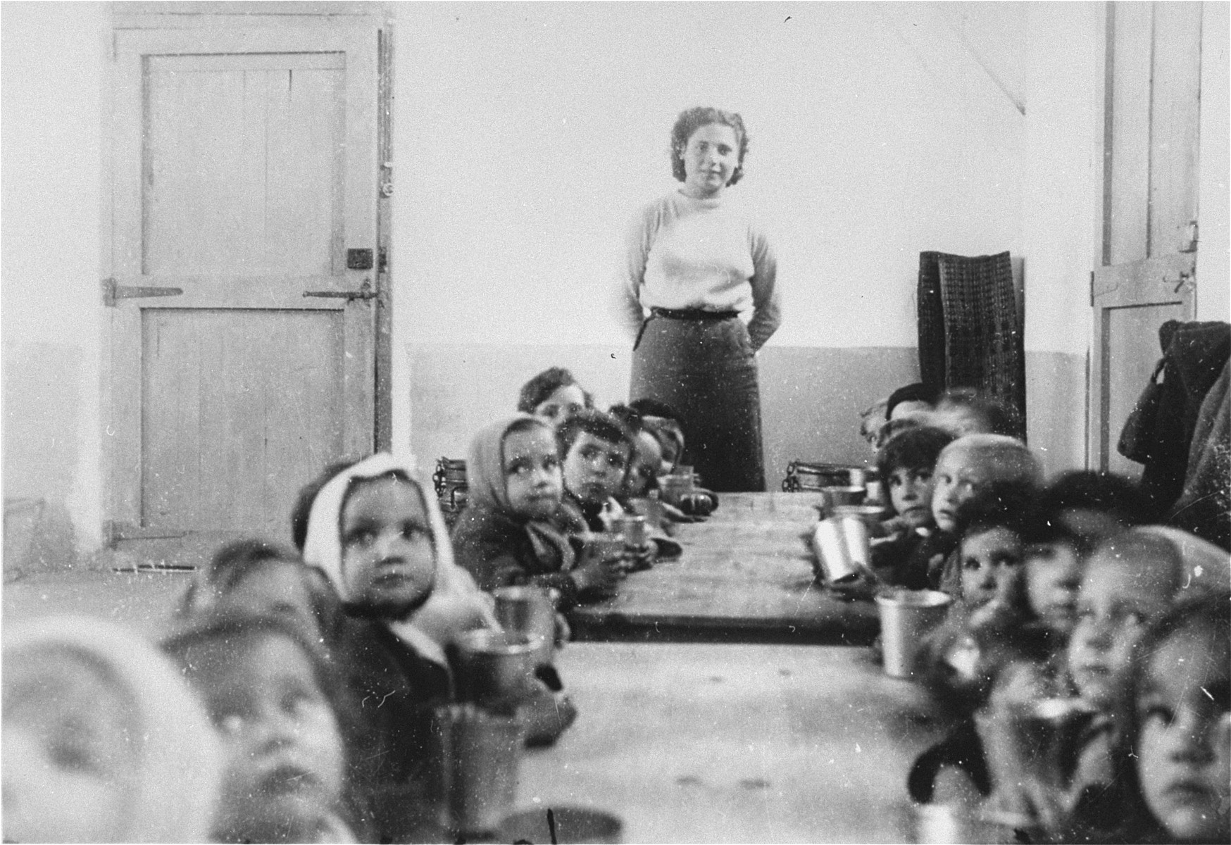 Children cared for by the OSE in the Rivesaltes transit camp.