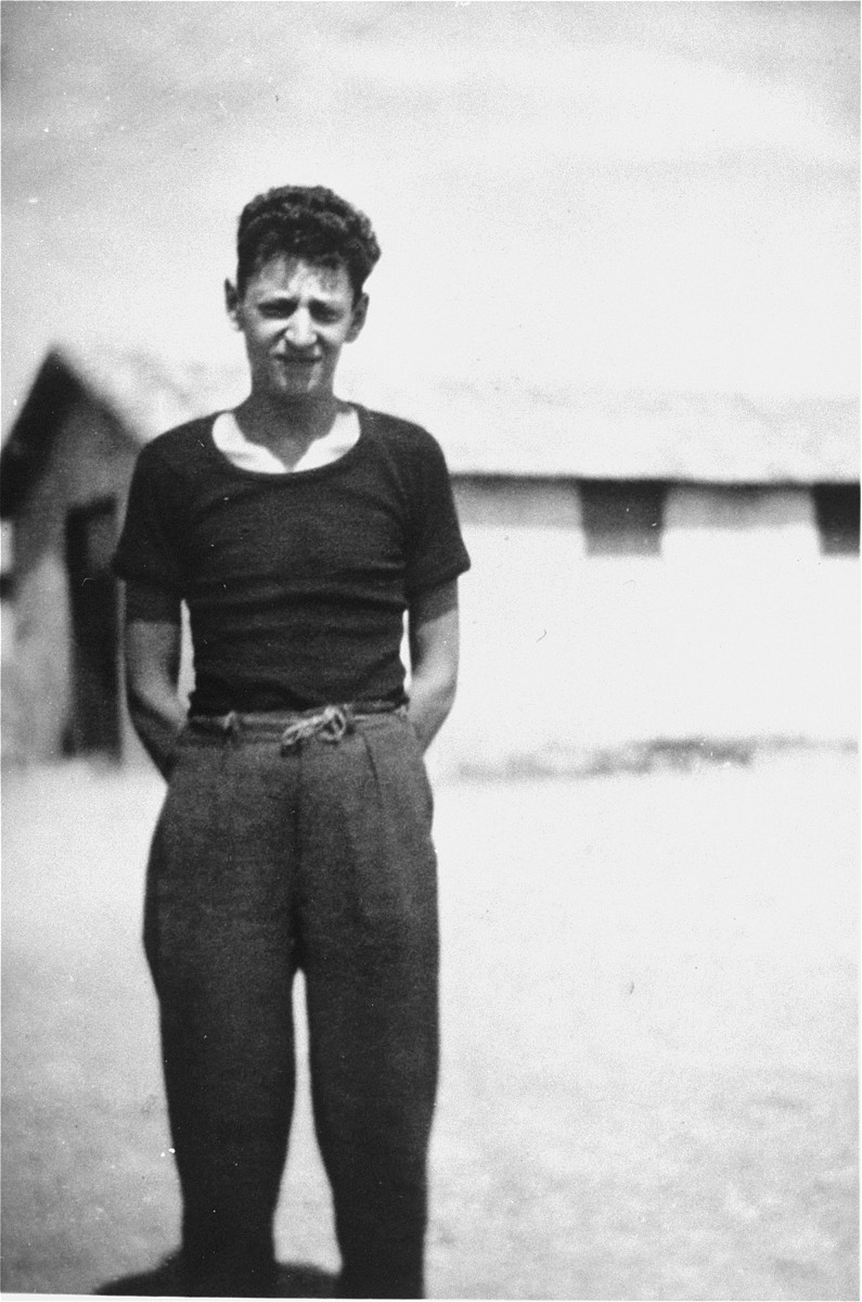 A young prisoner in the Rivesaltes transit camp.