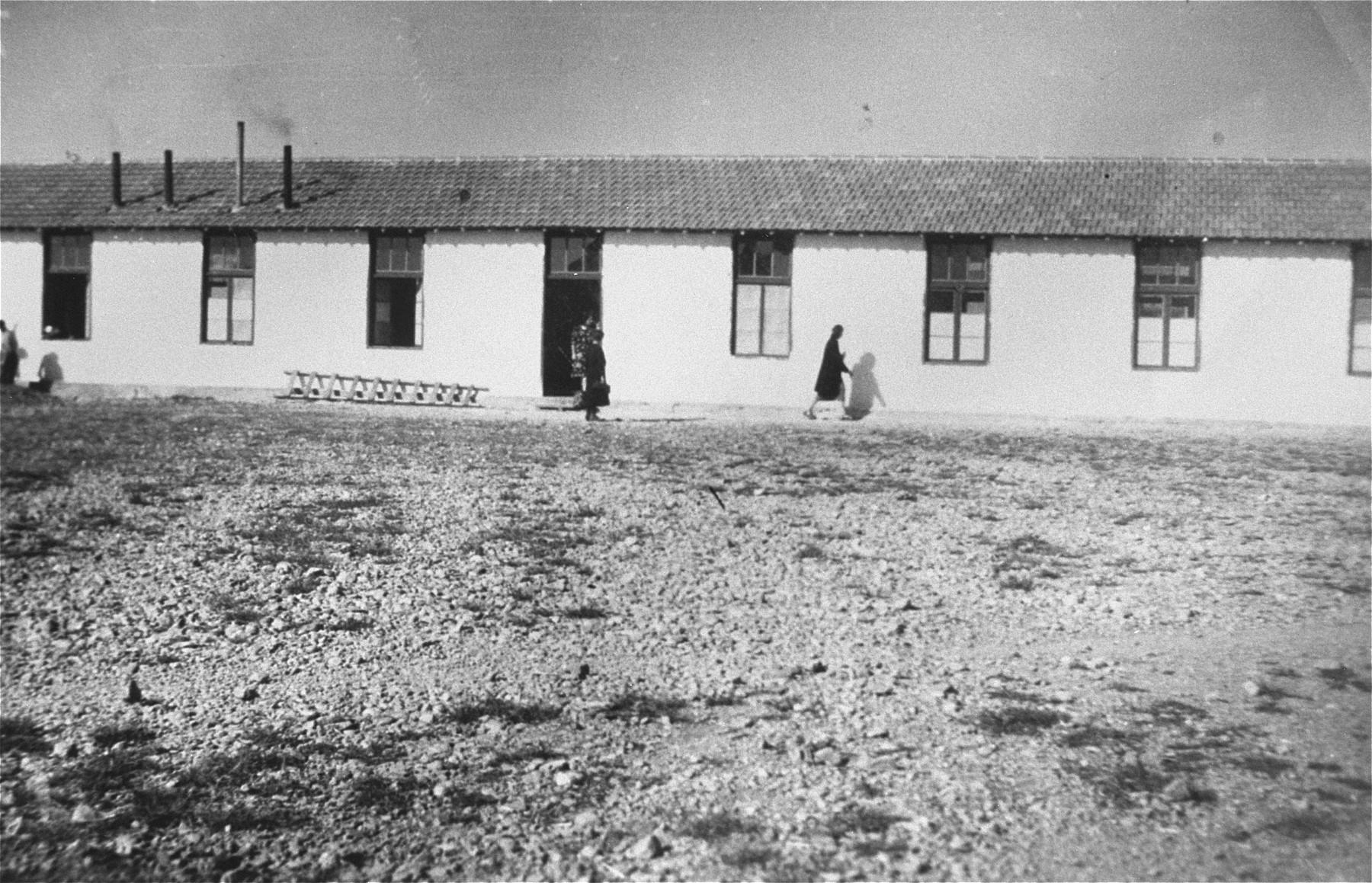 A barracks in Rivesaltes.