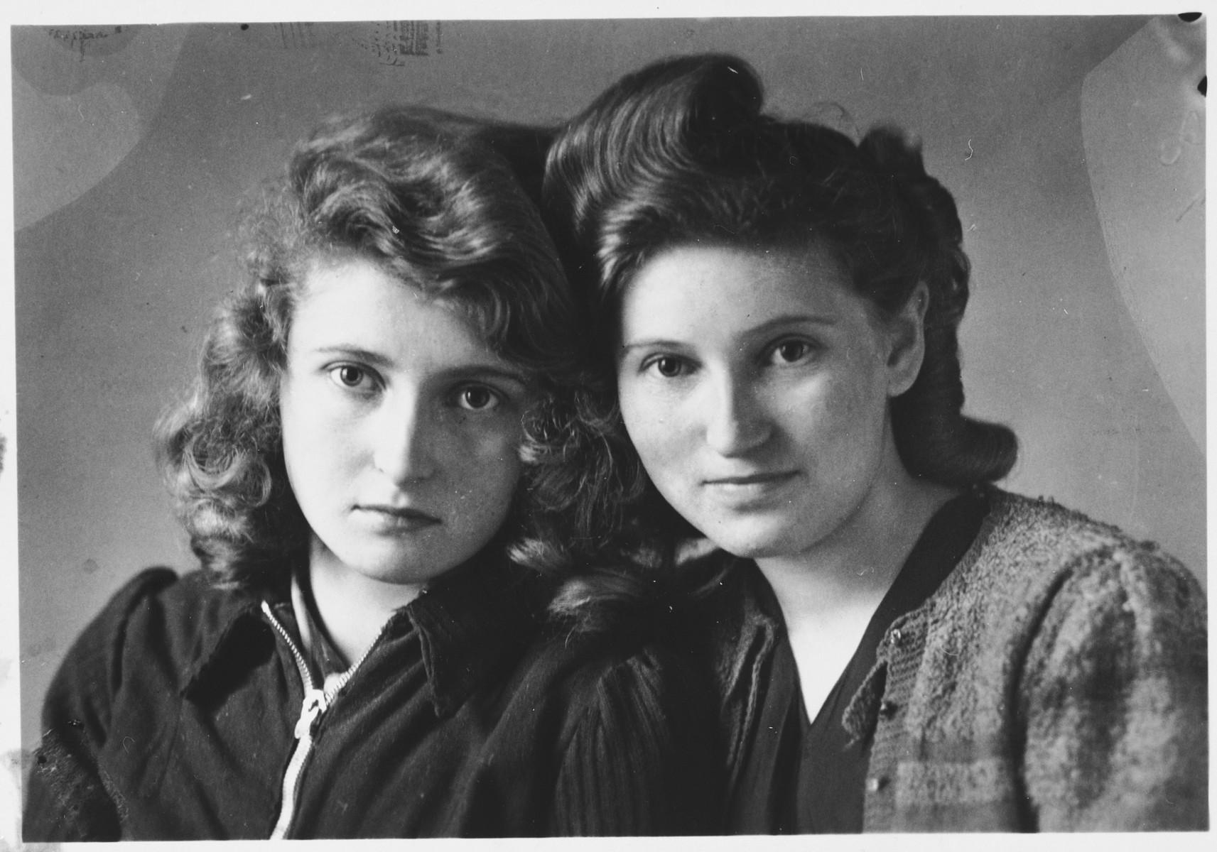 Marysia and Krysia Huppert, the daughters of Dorota's rescuer, Jerzy Huppert.