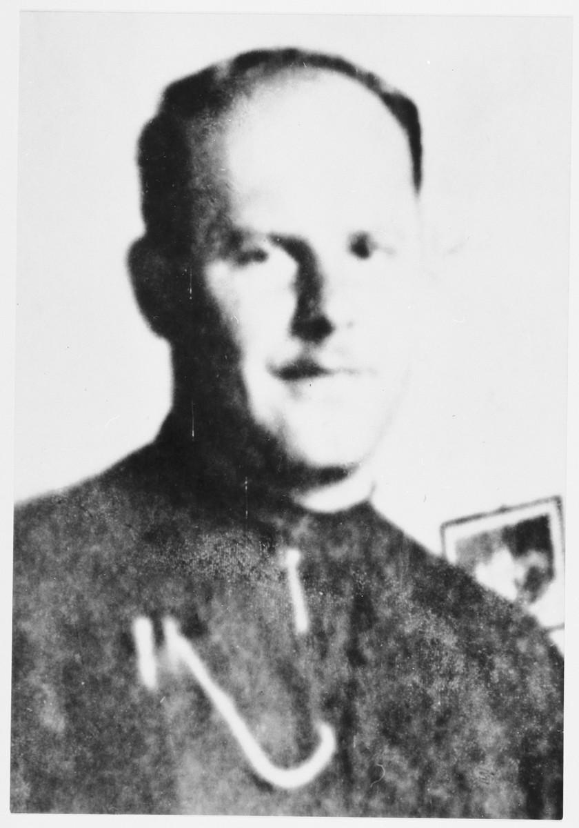 Portrait of Miroslav Filipovic-Majstorovic in Ustasa uniform.