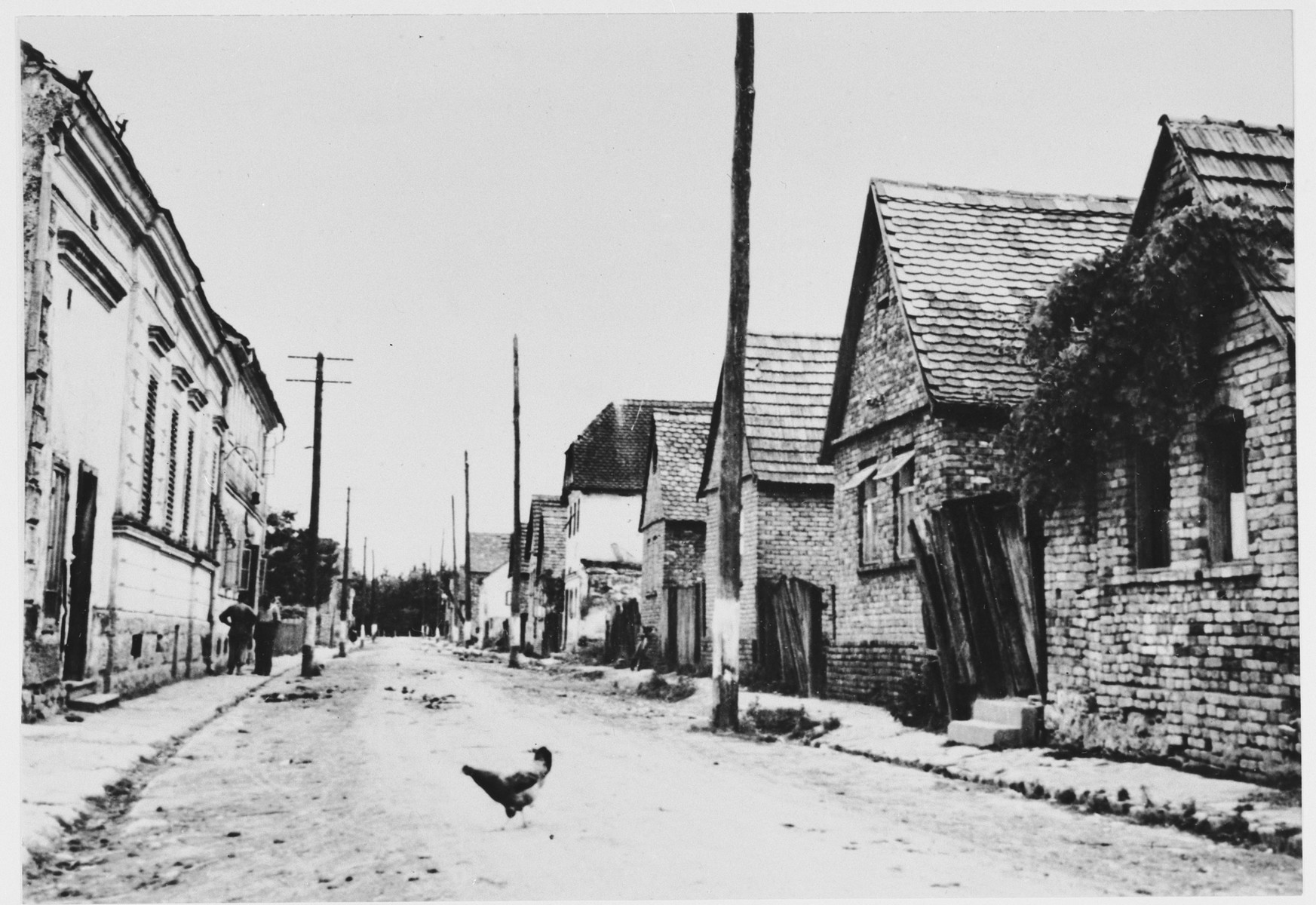View of a street in the Jasenovac concentration camp.