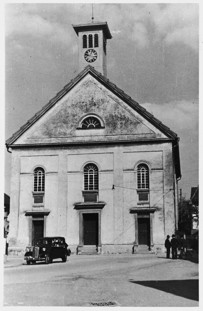 View of the synagogue in Buchau Germany.